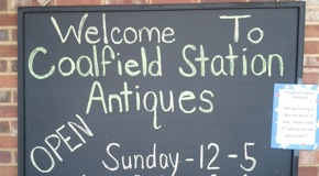Coalfield Antiques sign