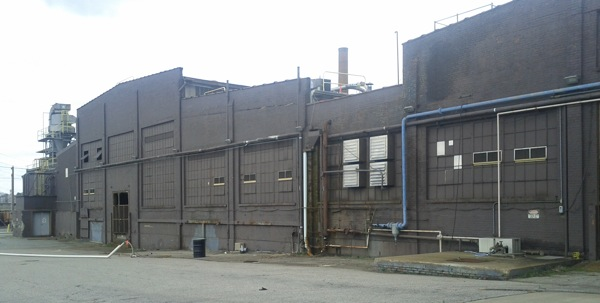 A building at the former Reynolds Metals plant.