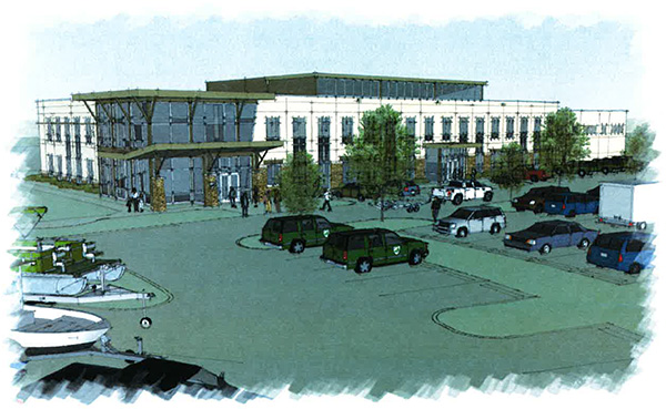 A rendering of the new the Department of Game and Inland Fisheries headquarters.