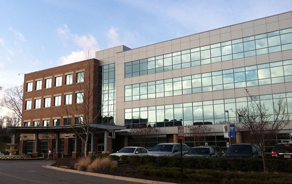 PartnerMD's headquarters are on the third floor of this building at 7001 Forest Ave.