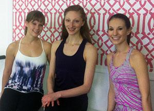 Barre Boutique instructors Julie Smith, Lauren Fagone and Sarah Bullis.