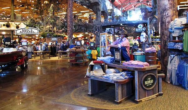Inside the Winding Brook Bass Pro Shops store. (Photos by David Larter)