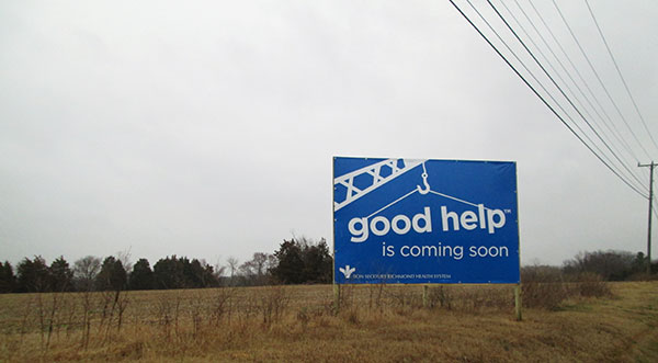 """The sign sort of speaks for itself,"" developer Bob Atack says. (Photo by Michael Schwartz)"