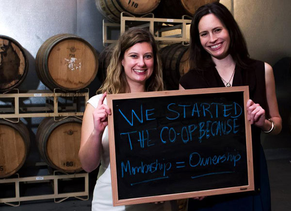 Richmond Food Cooperative co-founders Michele Lord, left, and Susan Hill. (Courtesy of RFC)