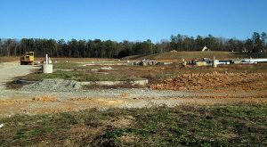 The lot at Walmart Way and Midlothian Turnpike where Stonehenge Village Center is planned. (Photo by Michael Schwartz)