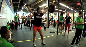 A SuperFit competition at CrossFit RVA (Courtesy of CrossFit RVA)