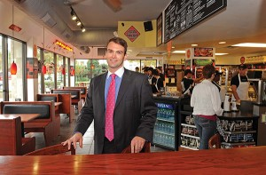 Williams Mullen attorney Gray Broughton in one of his Jimmy John's locations. (Photos courtesy of Gray Broughton)