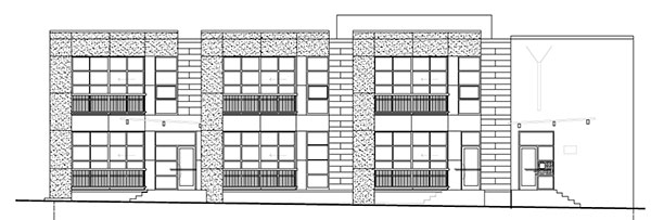 A rendering of the six planned apartments above the restaurant. (Images courtesy of Thalhimer)