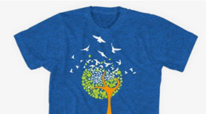 A T-shirt designed via Bonfire Funds. (Photos courtesy of Bonfire Funds)
