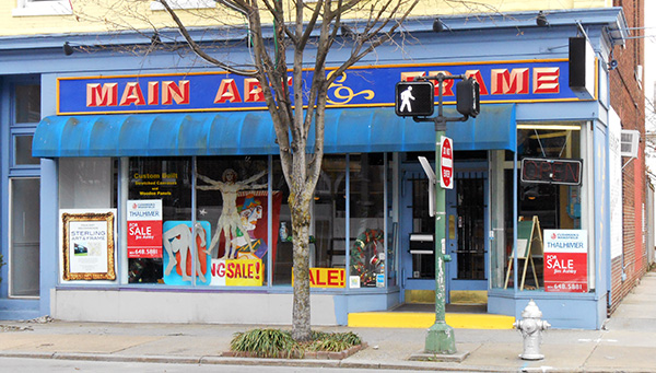 The former Main Art & Frame shop at 1537 W. Main St. (Photo by David Larter)