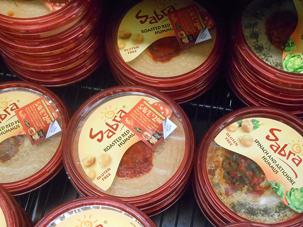 Chesterfield-made Sabra hummus at a Richmond grocery. (Photo by David Larter)