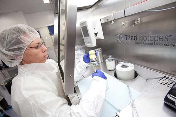 A worker at one of Triad Isotopes' more than 60 locations. (Courtesy of Triad Isotopes)
