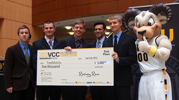 FreeMobility won the undergraduate division of the Venture Creation Competition. (Photos by Lena Price)