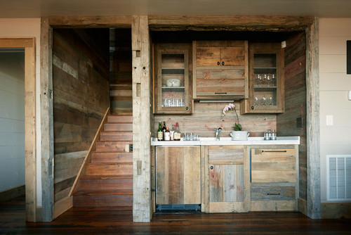 Custom cabinets and walls by Wellborn + Wright.