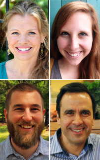 Clockwise from top left: Lyn Clark, Sara Rozmus, Kirk Schroder and Timothy Skirven.