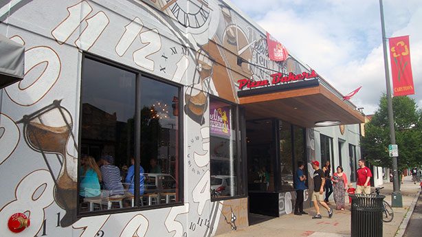 The new Mellow Mushroom pizza restaurant at 3012 W. Cary St. (Photo by Lena Price)