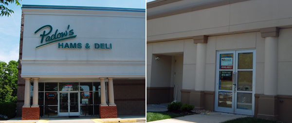 The Padow's at at 9864 W. Broad St., left, is moving to Cox Road. (Photos by Lena Price)