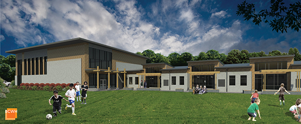A gym is planned as part of the next phase of the school's fundraiser.