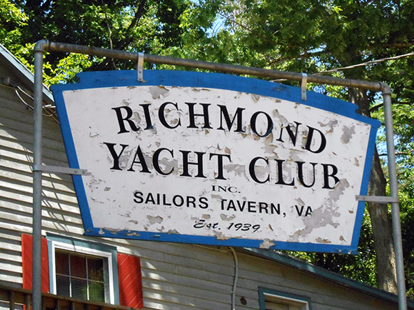 The Richmond Yacht Club is about 15 miles from downtown. (Photos by David Larter)