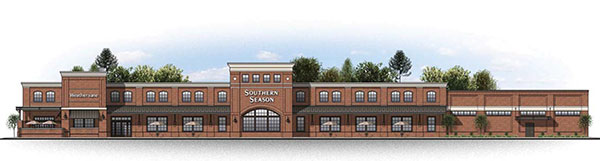 An elevation of the Southern Season grocery store planned for Libbie Mill.