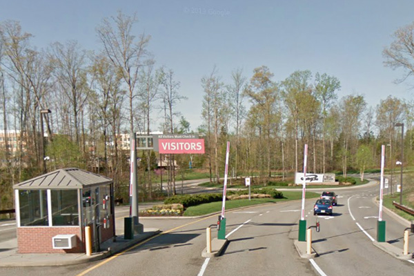 The entrance to Capital One's 316-acre campus in Goochland County. (Via Google Maps)
