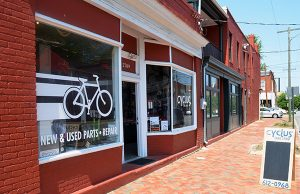 Linger Rose will move into the Cyclus Bike Shop space at 2709 E. Marshall St. (Photo by Mark Robinson)