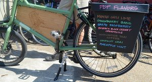 One of Pedal Pops RVA's customized delivery bikes.