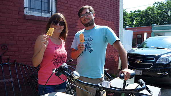 Pedal Pops RVA founders Sara Williamson and Frank Bucalo. (Photos by Mark Robinson)