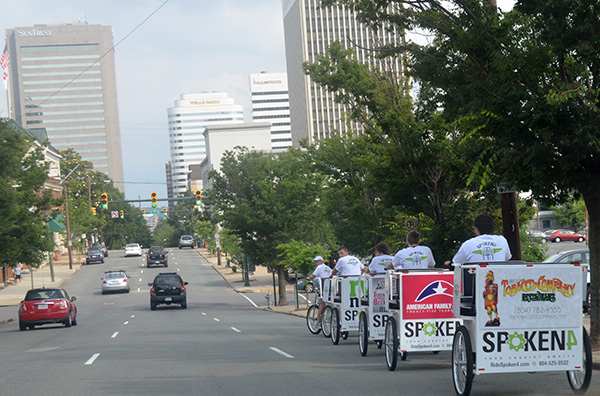 The company launched with five pedicabs and hopes to expand.