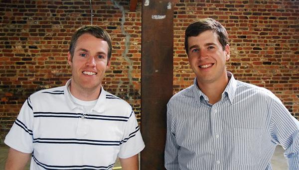 Triple Crossing Brewing founders Adam Worcester, left, and Scott Jones. (Photos by Burl Rolett)