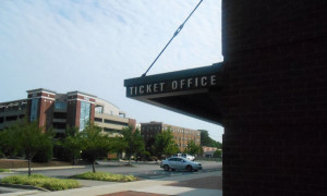 Tickets to the UVA game sold out in just a few minutes. Photo by Burl Rolett.