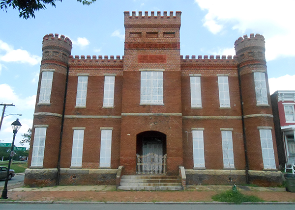 The armory building at 122 W. Leigh St. is on the National Register of Historic Places. (Photo by Burl Rolett)