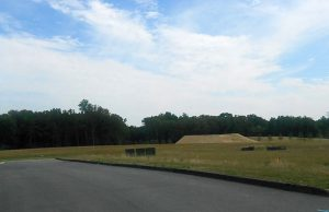 The site of the planned apartments.