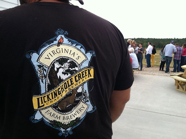 Lickinghole's merchandise includes shirts, hats, pint glasses and bottled beer.