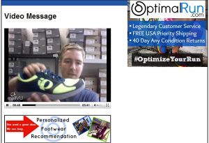 OptimalRun.com founder Patton Gleason in a Personalized Footwear Recommendation.