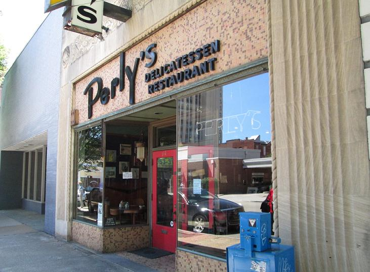 Perly's storefront at 111 E. Grace St. (Photo by Michael Schwartz)