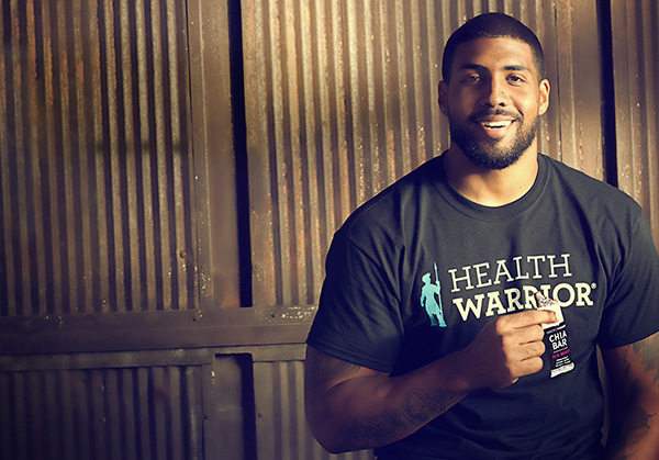 NFL running back Arian Foster has invested in locally based Health Warrior. (Photos courtesy of Health Warrior)