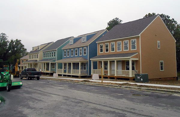 Some of the 128 apartments at the new Highland Grove development. (Photos by Burl Rolett)
