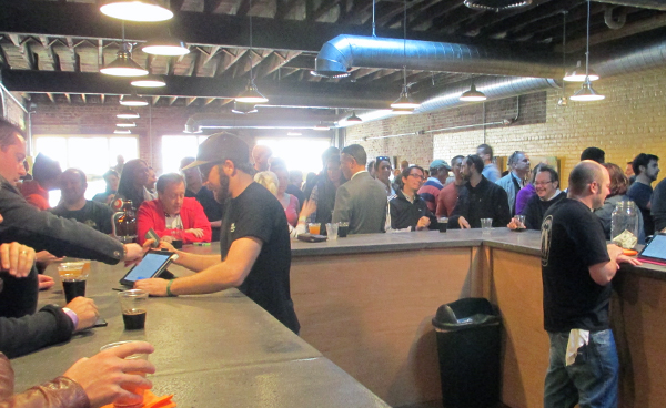 The crowd at Isley Brewing Company's grand opening. (Photos by Michael Thompson)