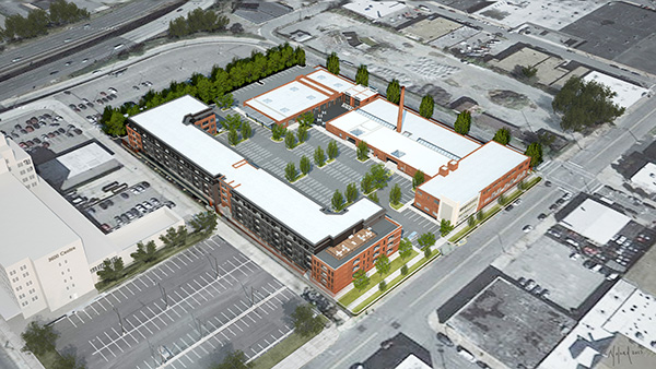 The planned complex would total about 200,000 square feet.
