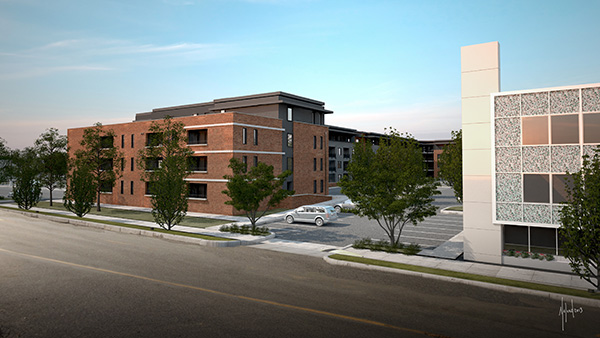A rendering of the Preserve at Scott's Addition. (Images courtesy of Spy Rock Real Estate)
