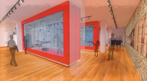 A rendering of the planned history gallery. (Courtesy of the Valentine Richmond History Center)