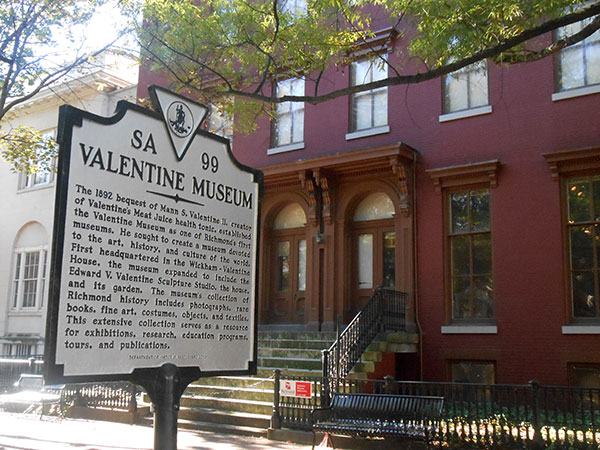 The Valentine Richmond History Center in the 1000 block of East Clay Street. (Photo by Burl Rolett)