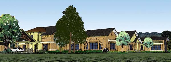 A rendering of the planned Bon Secours hospice house. (courtesy of Bon Secours)