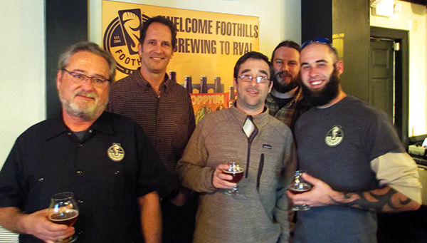 Foothills sales director Rob Ulick, left, marketing director Ray Goodrich and president and brewmaster Jamie Bartholomaus, center. (RBS)