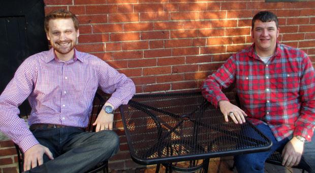 Michael Davis, left, and Ryan Mitchell are launching Garden Grove. (Photo by Burl Rolett)