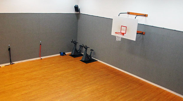 NDUTIME's new facility includes a basketball court, a sauna and a hot tub. (Photos by Brandy Brubaker)