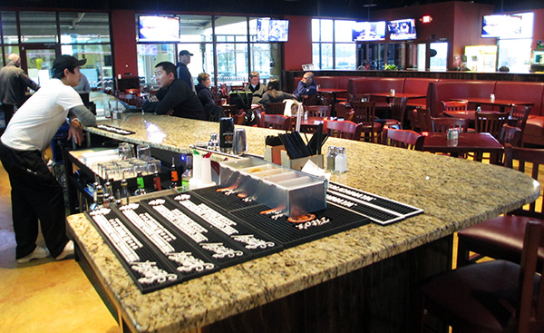 Inside Game On Sports Bar and Grill at 15532 WC Commons Way in Westchester Commons. (Photos by Michael Thompson)