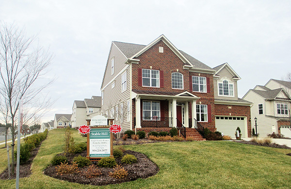 A house at Stable Hill, a Glen Allen subdivision. (Photo by Brandy Brubaker)