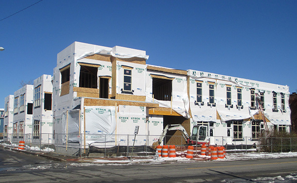 The 21-unit project at 12th and Bainbridge streets. (Photo by Burl Rolett)